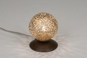 tafellamp 11496 klassiek eigentijds klassiek brons roestbrons metaal goud brons bruin