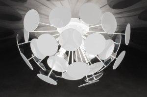 plafondlamp 11506 modern landelijk rustiek design retro wit zilver  oud zilver aluminium