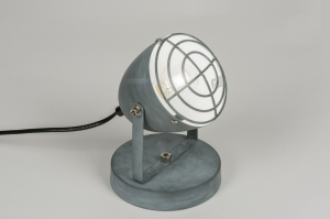 wandlamp 11513 industrie look modern stoer raw retro metaal betongrijs