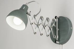 Wandleuchte 11514 Industrielook modern coole Lampen grob Retro Metall Betongrau