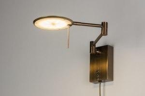 wandlamp 11528 modern klassiek eigentijds klassiek landelijk rustiek brons roest bruin brons roestbrons brons metaal