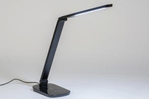 tafellamp 11599 modern kunststof zwart grijs
