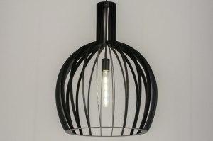 hanglamp 11605 modern zwart mat metaal rond