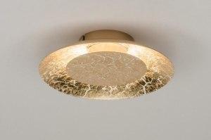 plafondlamp 11606 modern eigentijds klassiek metaal goud rond