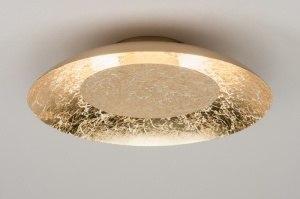 Deckenleuchte 11608 modern zeitgemaess klassisch Metall Gold rund