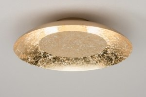 plafondlamp 11608 modern eigentijds klassiek goud metaal rond