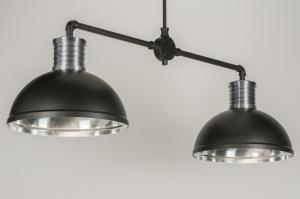 hanglamp 11617 modern industrie look stoer raw antraciet donkergrijs zwart mat aluminium