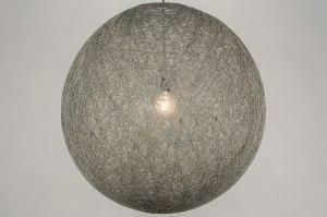 hanglamp 11667 landelijk rustiek modern retro kunststof metaal grijs betongrijs rond