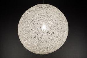 hanglamp 11670 landelijk rustiek modern retro wit creme rond