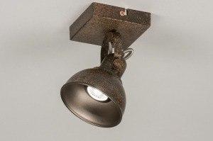 plafondlamp 11688 landelijk rustiek modern metaal roest bruin brons