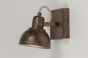 plafondlamp 11688 modern landelijk rustiek roest bruin brons metaal