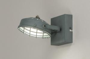 plafondlamp 11698 industrie look modern stoer raw metaal betongrijs