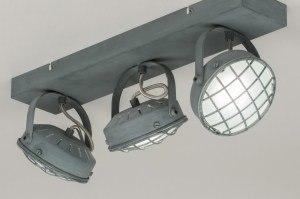 spot 11700 industrie look modern stoer raw metaal betongrijs langwerpig