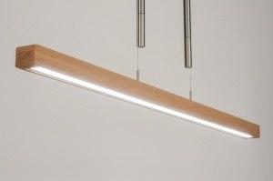 hanglamp 11717 modern design hout hout licht hout rechthoekig