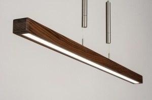 hanglamp 11720 modern design hout hout donker hout rechthoekig