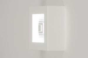 plafondlamp 11761 modern wit mat metaal vierkant