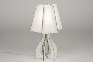 tafellamp 11767 modern wit kunststof