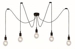 plafondlamp 11858 modern kunststof metaal zwart mat