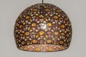 hanglamp 11864 modern koper meerkleurig metaal rond