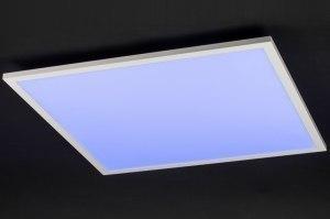plafondlamp 11917 modern design meerkleurig RGB multicolor wit kunststof metaal vierkant