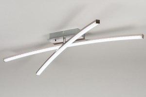 plafondlamp 11926 modern RGB multicolor staalgrijs kunststof metaal rechthoekig