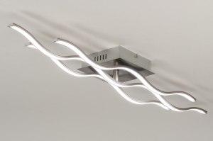 plafondlamp 11928 modern RGB multicolor staalgrijs kunststof metaal rechthoekig