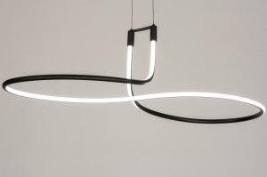 hanglamp 11953 modern zwart mat metaal