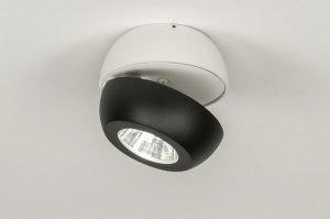 spot 11970 sale modern aluminium metaal zwart mat wit mat rond