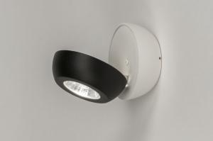 plafondlamp 11970 sale modern aluminium metaal zwart mat wit mat rond