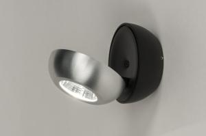 plafondlamp 11971 sale modern aluminium metaal zwart mat aluminium rond