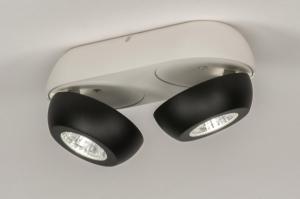 plafondlamp 11972 sale design modern aluminium metaal zwart mat wit mat rond
