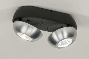 spot 11973 sale design modern aluminium metaal zwart mat aluminium rond