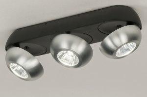 plafondlamp 11975 sale design modern aluminium metaal zwart mat aluminium rond langwerpig