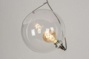 hanglamp 11986 design modern retro eigentijds klassiek glas helder glas transparant kleurloos rond