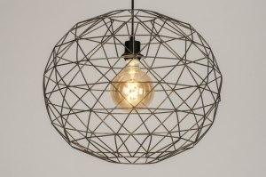 hanglamp 11992 modern grijs staalgrijs metaal staal rvs rond