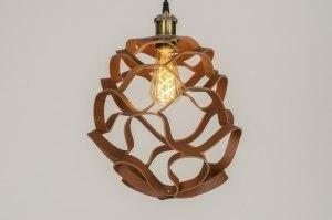 hanglamp 11996 modern eigentijds klassiek stoer raw bruin brons roest bruin rond
