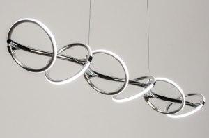 hanglamp 11999 modern aluminium chroom aluminium metaal staal rvs langwerpig