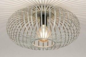 plafondlamp 12003 industrie look design landelijk rustiek modern metaal grijs staalgrijs