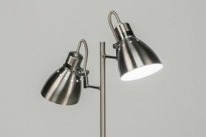 vloerlamp 12009 modern retro staalgrijs metaal staal rvs