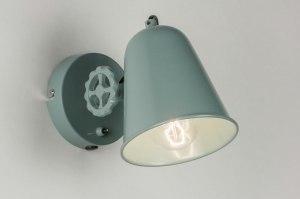 wandlamp 12010 modern landelijk rustiek retro groen metaal