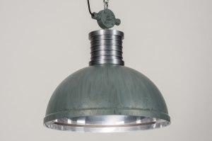 hanglamp 12017 modern industrie look stoer raw betongrijs aluminium metaal rond