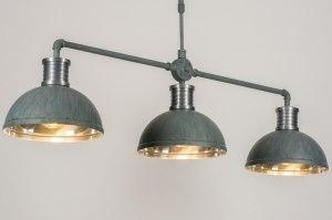 hanglamp 12021 modern industrie look stoer raw betongrijs aluminium metaal langwerpig rond