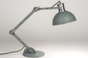 tafellamp 12024 sale industrie look modern metaal betongrijs