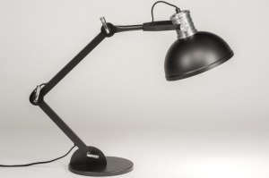 tafellamp 12025 modern industrie look antraciet donkergrijs zwart mat metaal