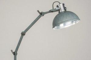 vloerlamp 12027 modern industrie look stoer raw betongrijs metaal rond