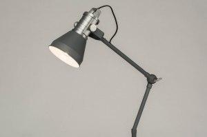 vloerlamp 12031 modern industrie look stoer raw betongrijs grijs metaal