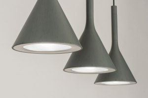 hanglamp 12034 modern metaal betongrijs