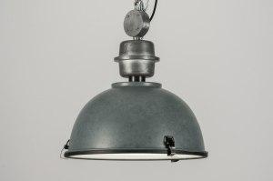 hanglamp 12036 sale landelijk rustiek industrie look grijs metaal rond