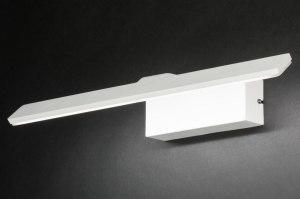 wandlamp 12074 design modern aluminium wit mat langwerpig rechthoekig