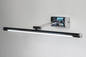 wandlamp 12078 modern chroom metaal langwerpig rechthoekig